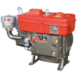 Automobile 1 Cylinder Diesel Engine , 24hp L24 Electric Water Cooled Diesel Engine